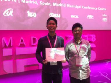 電気・機械工学専攻の秋田駿さんが2018 IEEE Robotics and Automation Society Japan Joint Chapter Young Award (IROS, CASE2018)を受賞しました。