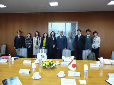 Meeting with Vice-President Dr. UKAI and our Professors.JPG