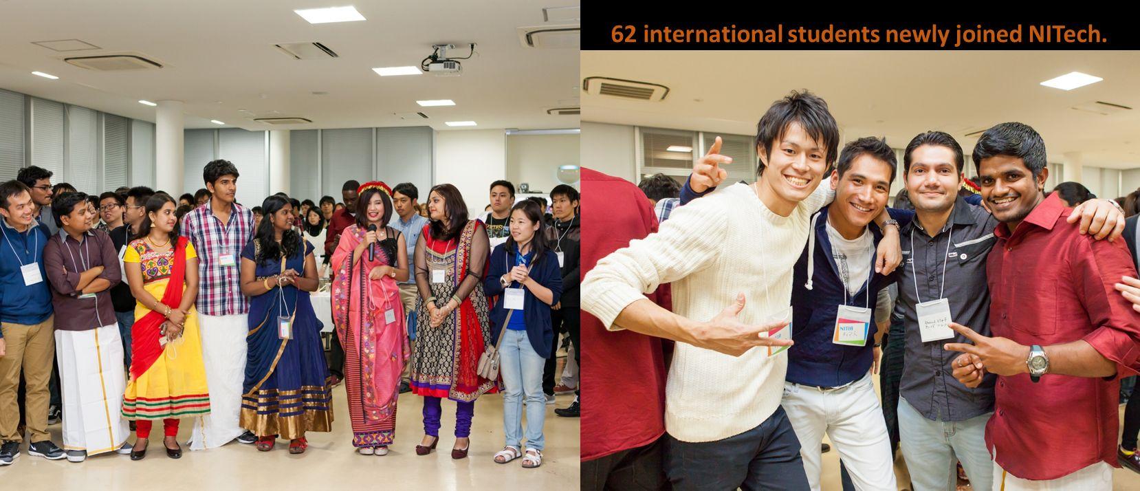 62名の留学生が加わりました